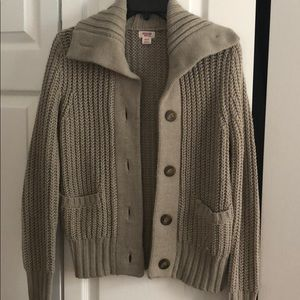 Mossimo tan button down cardigan sweater